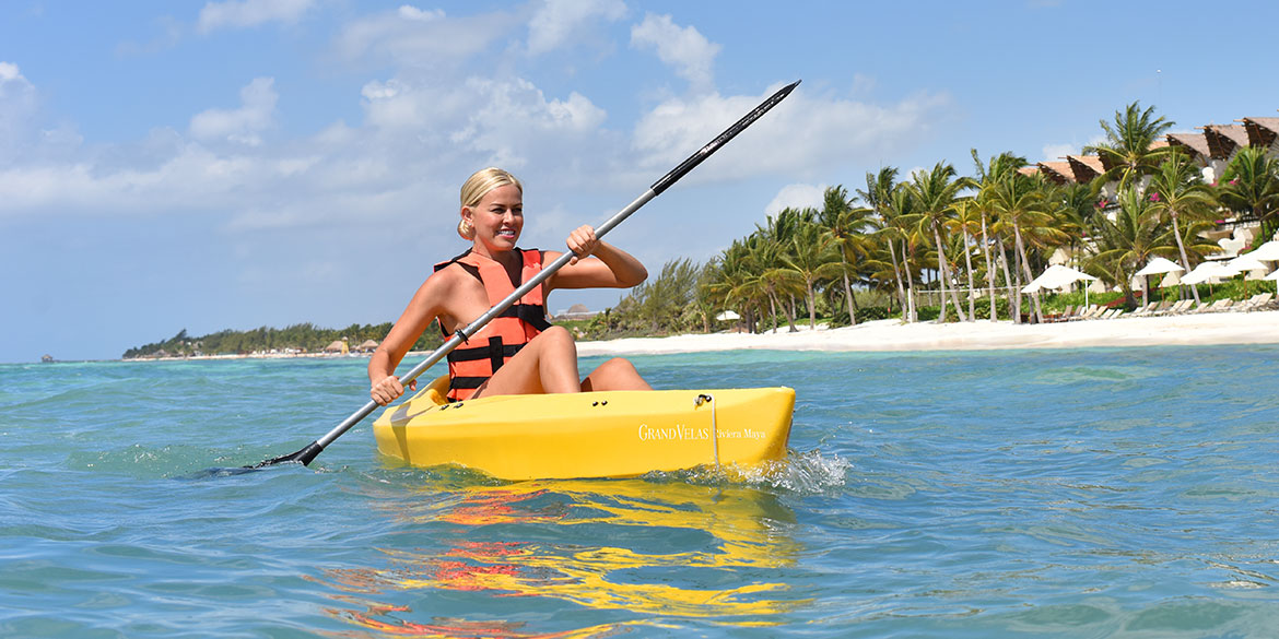 Grand Velas Riviera Maya offers Kayak Tour